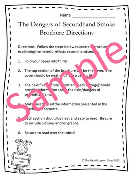 Dangers of Seconhand Smoke Brochure