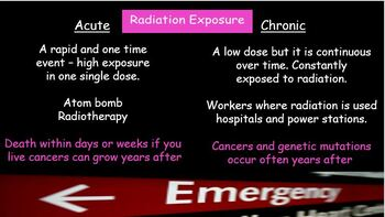 Nuclear Energy - Dangers of radiation