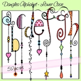 Dangles Alphabet Upper & Lower Case with and without Dangl