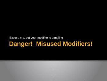 Dangling Modifiers Hands-on Power Point