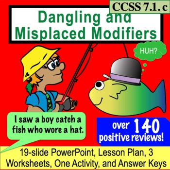 Dangling and Misplaced Modifiers: Hilarious Lesson, PPT and Activities