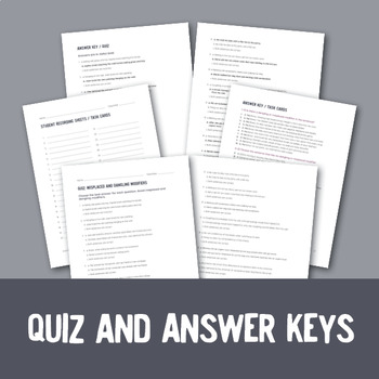 Dangling and Misplaced Modifiers: 32 Task Cards, Posters, and Quiz