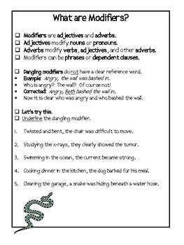 Dangling and Misplaced Modifiers-Ten Practice Exercises