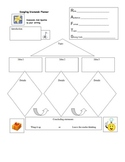 Dangling diamonds graphic organizer with RAFTS
