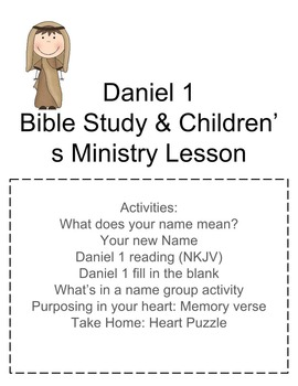 Daniel 1: Bible Study and Children's Ministry Activities