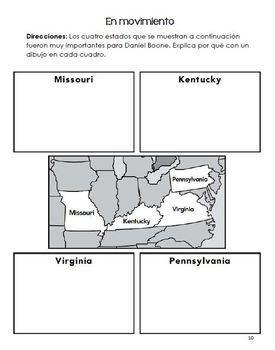 Daniel Boone 3rd Grade Bilingual Package