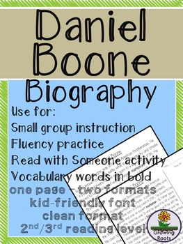 Daniel Boone  Biography