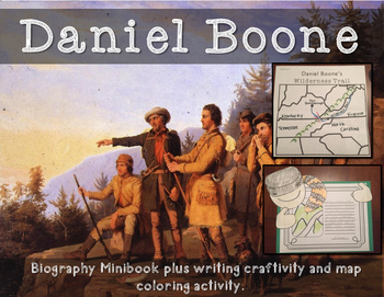 Daniel Boone Biography Minibook plus activities