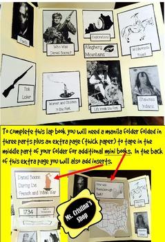 Daniel Boone Lap Book