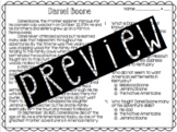 Daniel Boone Reading Passage