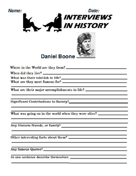 Daniel Boone Research and interview Assignment
