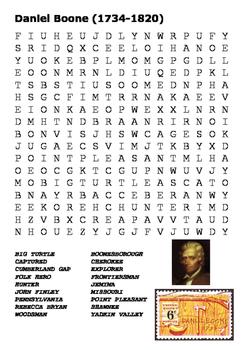 Daniel Boone Word Search