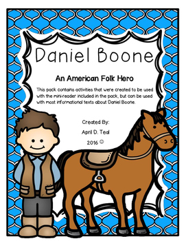 Daniel Boone For Kids By The Creative Coach April Teal Tpt border=
