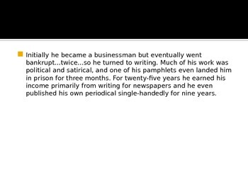 Daniel Defoe Biography