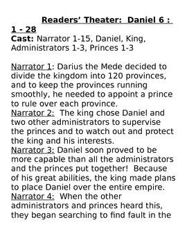 Daniel In The Lions' Den Activity Packet