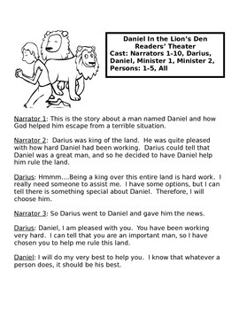 Daniel In The Lions' Den Activity Packet