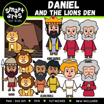 Daniel and The Lions Den Digital Clip Art