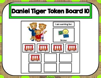 Daniel Tiger 10 Token Board 10