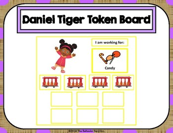 Daniel Tiger 10 Token Board