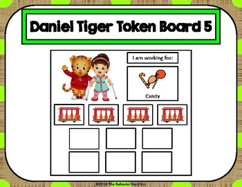 Daniel Tiger 10 Token Board 5