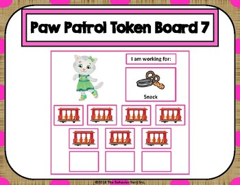 Daniel Tiger 10 Token Board 7