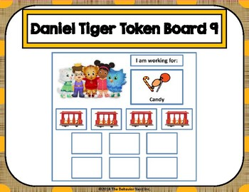 Daniel Tiger 10 Token Board 9
