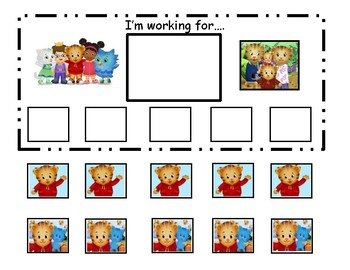 Daniel Tiger's Neighborhood Token Board