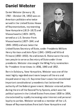 Daniel Webster Handout