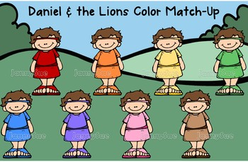 Daniel and Lions color match game for preschoolers