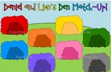Daniel and the Lion's Den match game for preschoolers