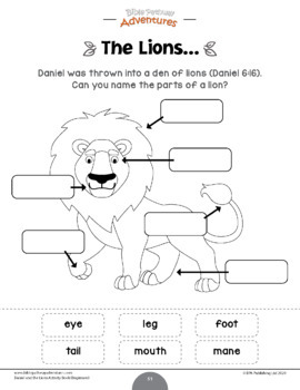 Daniel and the Lions Activity Book for Kids Ages 3-5