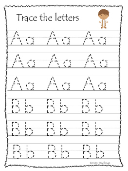 Daniel and the Lions Den A-Z Tracing Worksheets. Printable Christian Curriculum.