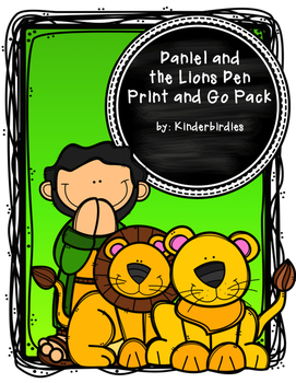 Daniel and the Lions Den Bible Print and Go Pack