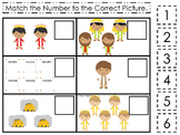 Daniel and the Lions Den Match the Number Printable Game. Christian Preschool ma
