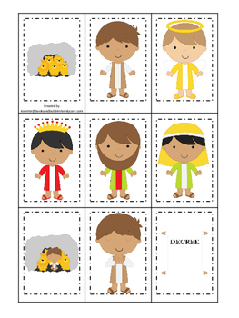 Daniel and the Lions Den Memory Match Printable Game. Preschool Christian Game.