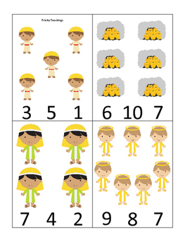 Daniel and the Lions Den printable Number Clip it Cards.  Bible Stories.