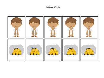 Daniel and the Lions Den printable Pattern Practice Cards.  Bible Stories.