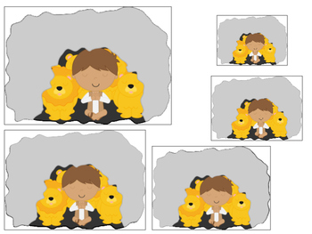 Daniel and the Lions Den printable Size Sequence Game.  Preschool Bible Stories.