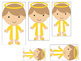 Daniel and the Lions Den printable Size Sequence Game.  Pr