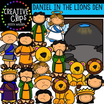 Daniel in the Lions Den {Creative Clips Digital Clipart}