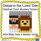 Daniel in the Lions' Den Hundred Chart Mystery Picture wit