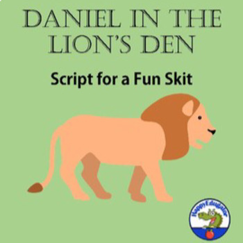 Daniel in the Lions Den Play Script and PowerPoint Dialogue Prompter Bundle