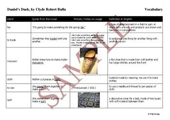 Daniel's Duck Reading Guide / Novel Study