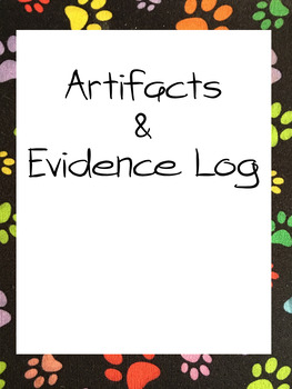 Danielson Artifacts & Evidence Binder: editable with examples (DogTales theme)