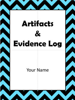 Danielson Artifacts & Evidence Binder: fully editable & includes examples