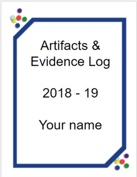 Danielson Artifacts & Evidence Binder: fully editable with examples - Confetti