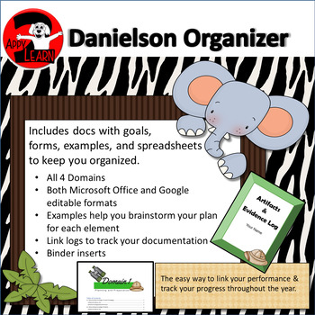 Danielson Artifacts & Evidence Binder: fully editable with examples - Safari
