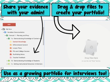 Danielson Documentation - Evidence Organization Portfolio for Teachers
