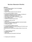 Danielson Domain Checklist
