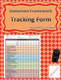 Danielson Evaluation Framework Tracking Form